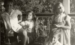 Madeleine Waller, second from left, with her siblings Mark, Caroline and Simon, c1972.