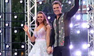 Contestants Catherine Tyldesley and James Cracknell at the Strictly Come Dancing launch show in August.