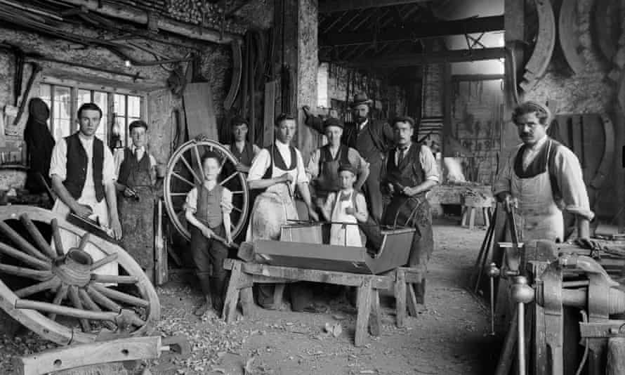 Apprentices at a carriage works, 1903.