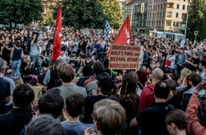 Demonstrators in Berlin protest against Greek austerity deal