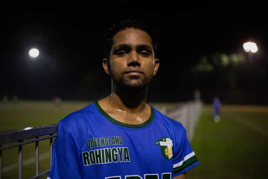 Osman Osman, former refugee and member of QR The Brave FC.