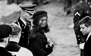 Arlington, Virginia, on 25 November 1963. Jacqueline Kennedy at John F Kennedy's funeral.
