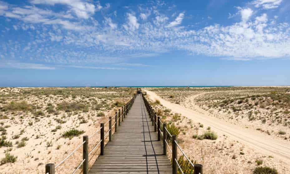 Armona island is part of the islet belt that separates the Ria Formosa inlet from the sea.