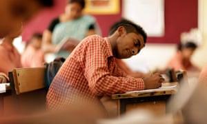 teen boy classroom Delhi India