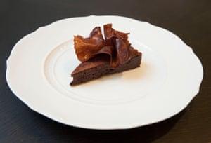 'World-class': Jason Atherton's bitter chocolate tart, served at The Betterment, W1.