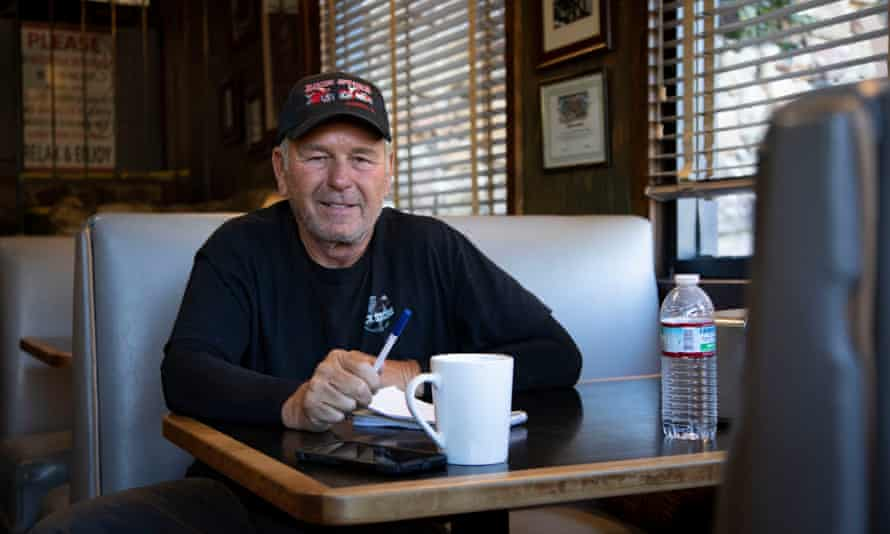 Rich Savko, inside the Rock Store restaurant in Cornell, California, after the Woolsey fire, November 2018