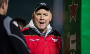 Wayne Pivac during the European Rugby Champions Cup match between Bath and Scarlets this year.