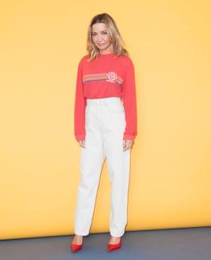 Jess Cartner-Morley wears sweatshirt and jeans