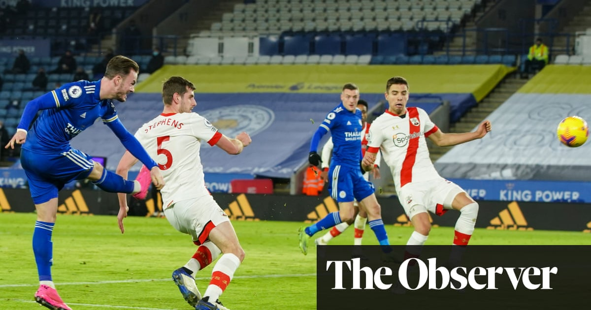 Leicester go second as James Maddison sets up win over Southampton