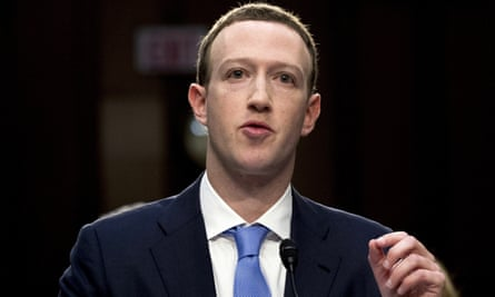 Mark Zuckerberg testifies before a joint hearing of the Commerce and Judiciary Committees on Capitol Hill in Washington on 10 April 2018.
