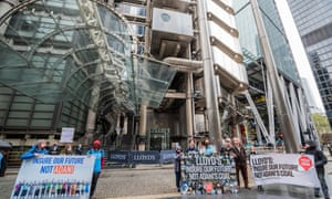 Insure Our Future protest outside Lloyd's of London in October.