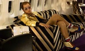 Taron Egerton as Elton John in Rocketman.