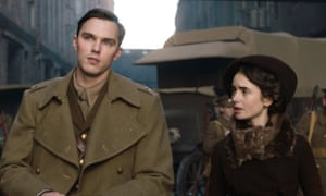 Nicholas Hoult and Lily Collins in Tolkien.