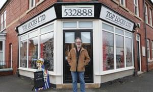 Jonathan Stiff, proprietor of Top Locks hairdressers in Worksop