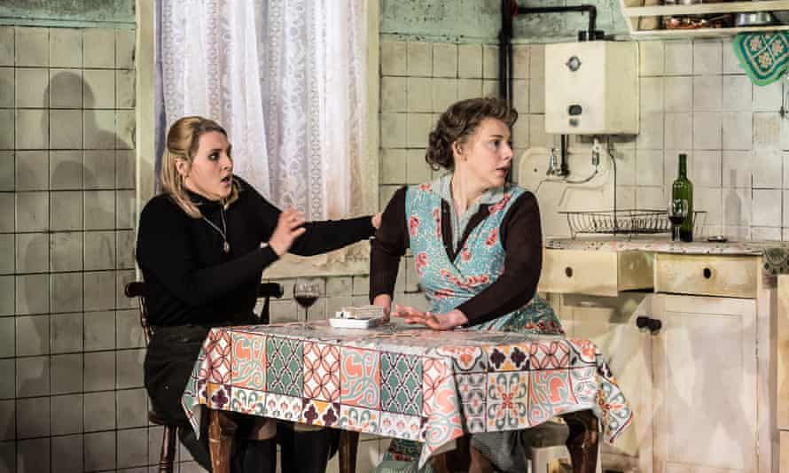 Lucy Anderson, left, as Magda and Chloe Latchmore as Mother in The Consul.