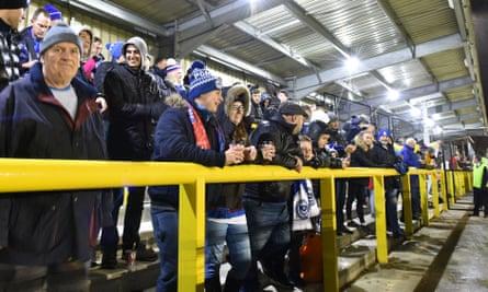 Harrogate fans watching a game