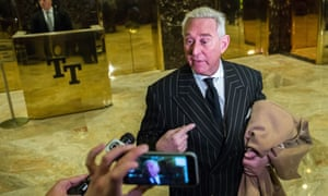 Roger Stone speaks with media after meeting with Donald Trump at Trump Tower on 6 December 2016 in New York, New York.