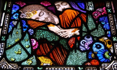 One of Clarke's lancet windows for a chapel in Dingle, Co Kerry.
