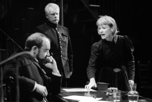 David Haig as Angelo and Claire Skinner in Measure for Measure