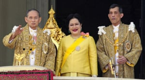 Crown Prince Maha Vajiralongkorn, right, pictured in 2007 with his parents, King Bhumibol Adulyadej and Queen Sirikit.