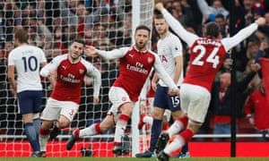 Shkodran Mustafi opens the scoring for Arsenal as Tottenham suffer more misery against one of their big rivals.
