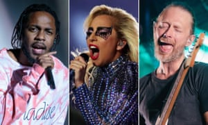 Cochella 2017 headliners: Kendrick Lamar, Lady Gaga and Thom Yorke of Radiohead.