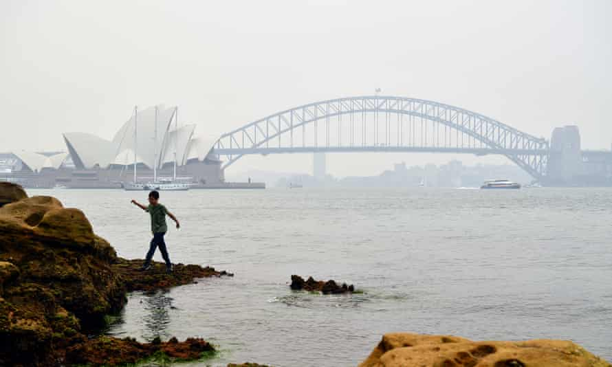 Smoke and haze from fires in New South Wales hangs over Sydney