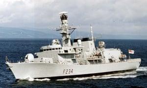 HMS Iron Duke, pictured in 1999