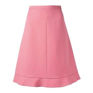 pink full skirt