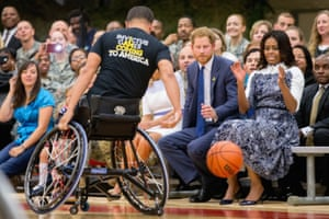 Prince Harry gets ready to catch a loose ball