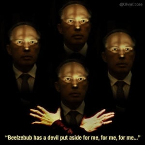 Peter Dutton got well and truly trolled after Fairfax political reporter Stephanie Peatling tweeted a photo of Immigration Minister Peter Dutton at a press conference in May. Dutton's staffers asked that the photo be removed because it was unflattering, but Twitter users had other ideas. here's one of the best memes by Olivia Copse – the original photo having been taken by Alex Ellinghausen.
