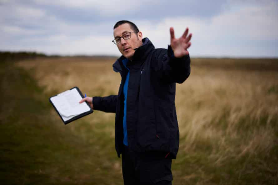 Saltfleetby-Theddlethorpe reserve manager, Guy Mason, in Lincolnshire