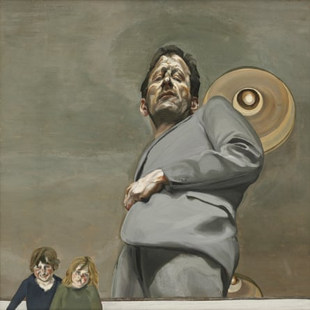 Lucian Freud's Reflection With Two Children (Self Portrait), 1965.
