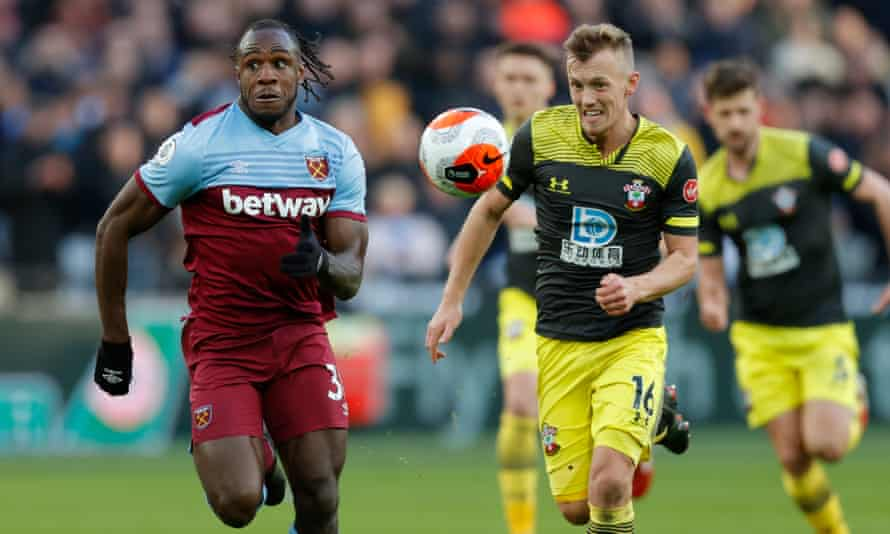 West Ham in action against Southampton in February.