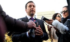 Victorian opposition leader Matthew Guy speaks to media