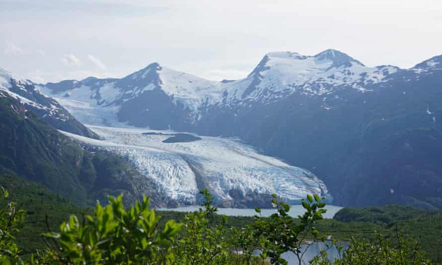 Portage glacier in Chugach National Forest in Alaska.