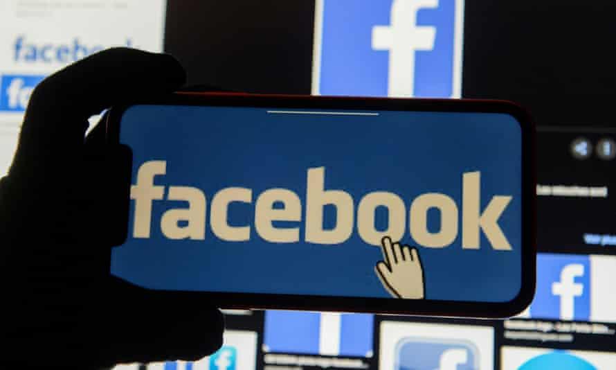 Facebook on a mobile screen