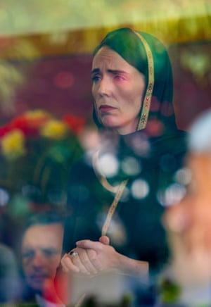 Jacinda Ardern after the Christchurch shooting