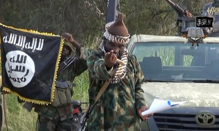Screengrab showing Abubakar Shekau, leader of Boko Haram.