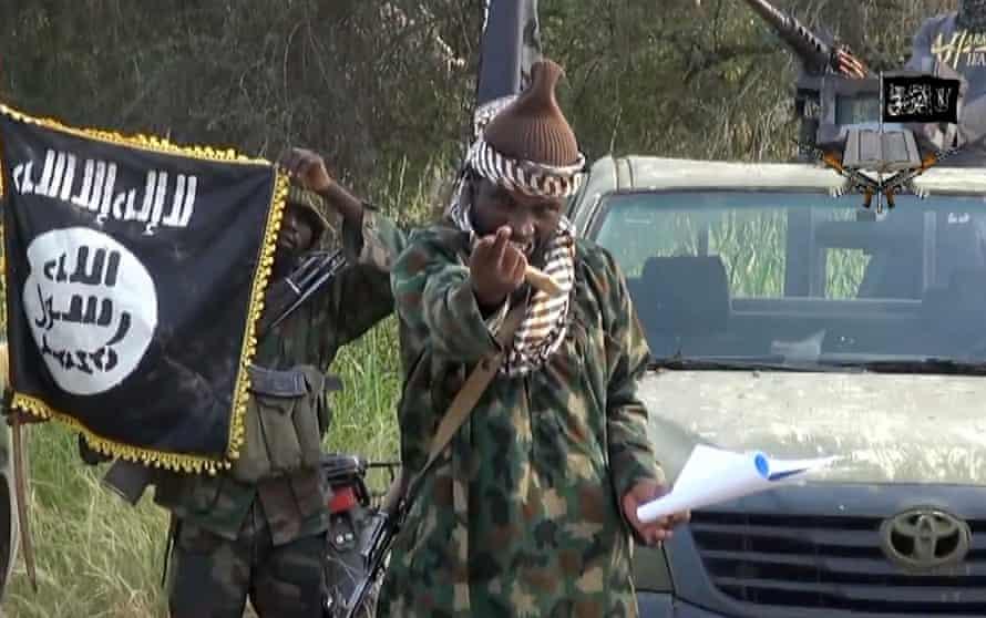 Abubakar Shekau, leader of Nigerian Islamic militant group Boko Haram.