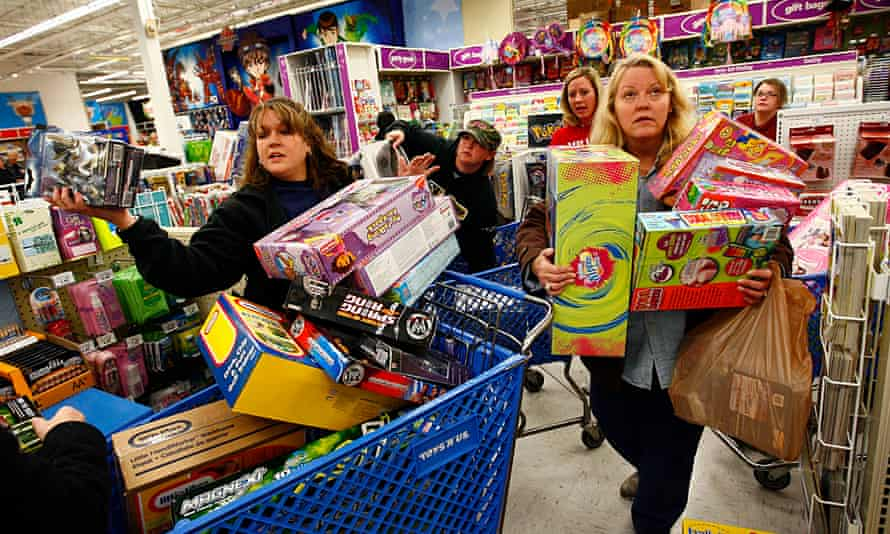 Shoppers in Toys R Us