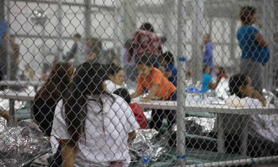 Teenage migrant are detained by the US border Patrol, 17 June 2018 in McAllen, Texas. The children were separated from their families under the zero tolerance policy.