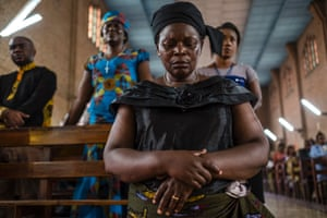 A mass in Kinshasa to mourn the victims of the violent clashes over the last few days. It is believed that at least 50 people have been killed