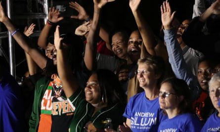 Even as Andrew Gillum prepared to concede, his supporters let out joyous applause when it was announced that Amendment 4 had passed.