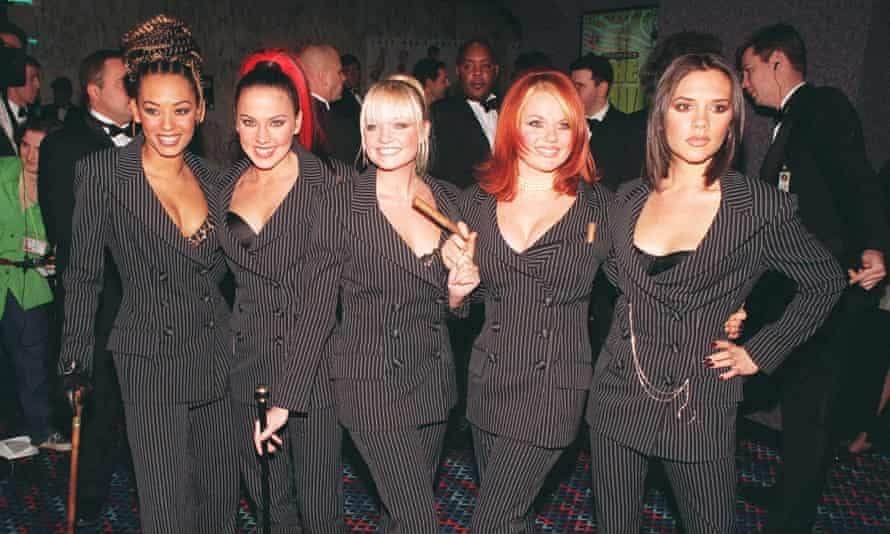 On the red carpet for the premiere of Spiceworld the Movie, 15 December 1997.
