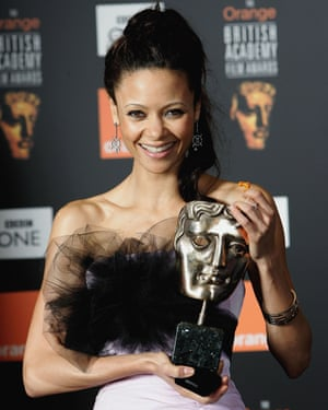 Newton with her Bafta for Crash, 2006.