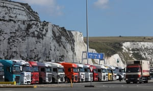 Trucks at the port of Dover