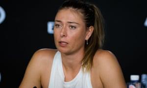 Sharapova at her post-match press conference.