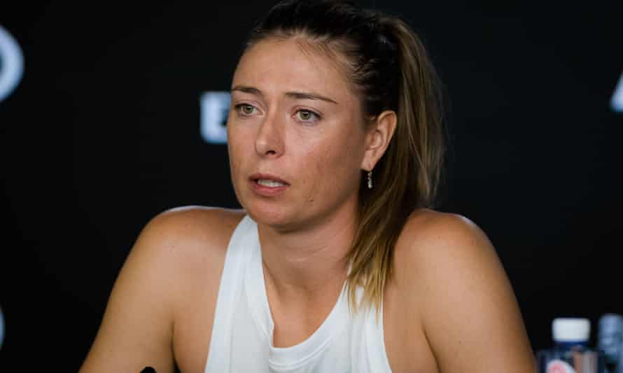 Sharapova at her post-match press conference.