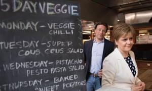 Jamie Oliver and Nicola Sturgeon
